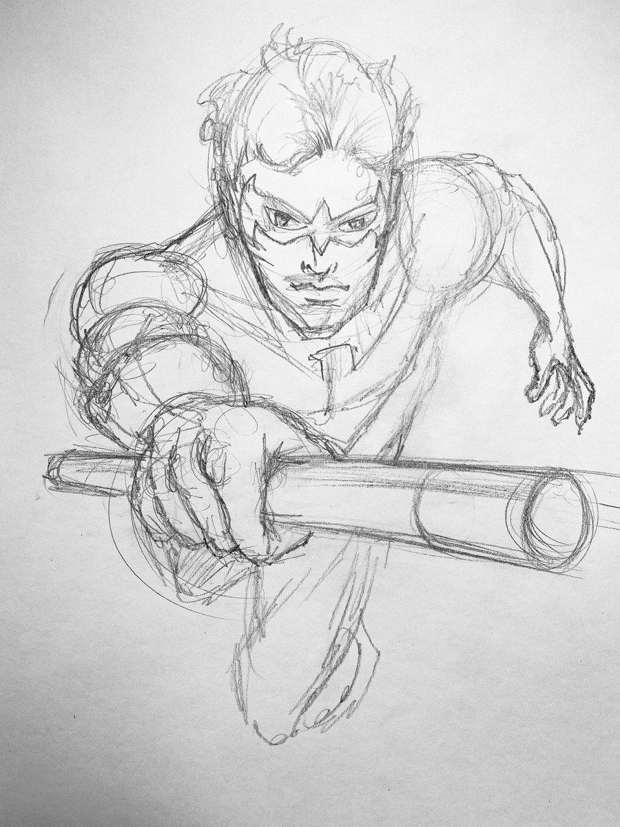 #WIP - #Nightwing #drawing ... updates to follow. #dccomics #fanart