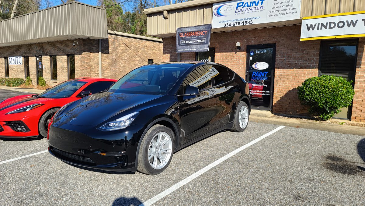 This gorgeous Tesla #Model Y got the FULL protection treatment from XPEL: #Ultimate #Plus #Paint #Protection # Film (#PPF) on all the painted surfaces around the entire vehicle, #FusionPlus #ceramic #coating, and #Prime #XR Plus #heat #blocking #window...