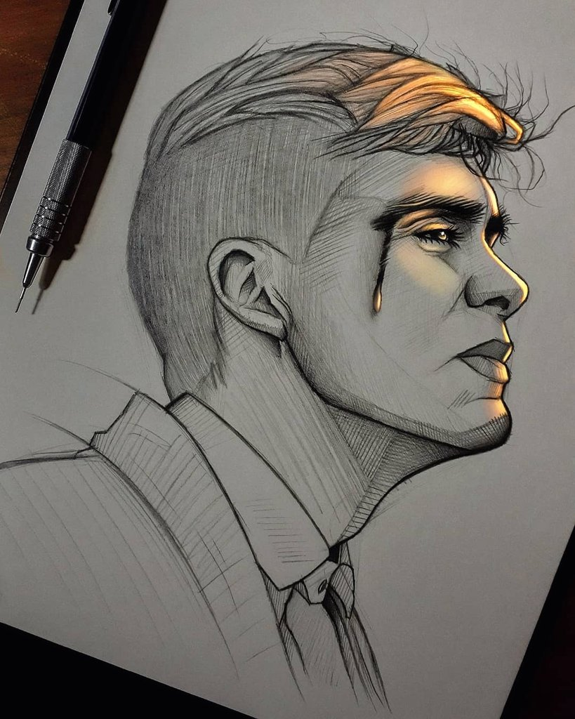 one of the best series, that I have seen  @ThePeakyBlinder  #drawing #pencil #TommyShelby #sketch #art #fanart #PeakyBlinders #draw #Netflix