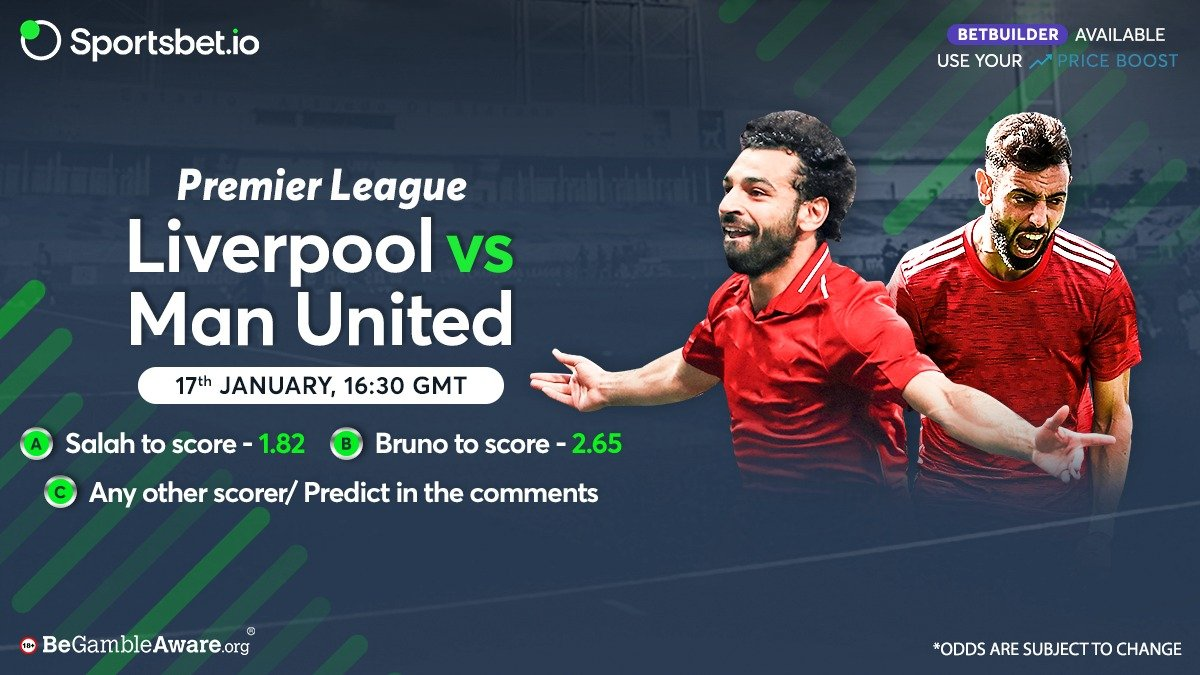 🏟️ #PremierLeague 2020/21:   🗒️Salah - 16 Apps, 13 Goals ⚽⚽ 🗒️Bruno - 17 Apps, 11 Goals ⚽⚽  Who will come out on top & put the ball at the back of the net? 🥅 🤔  Head to 👉 and win big on this top of the table fixture! 🔥   #LIVMUN #Salah #Fernandes