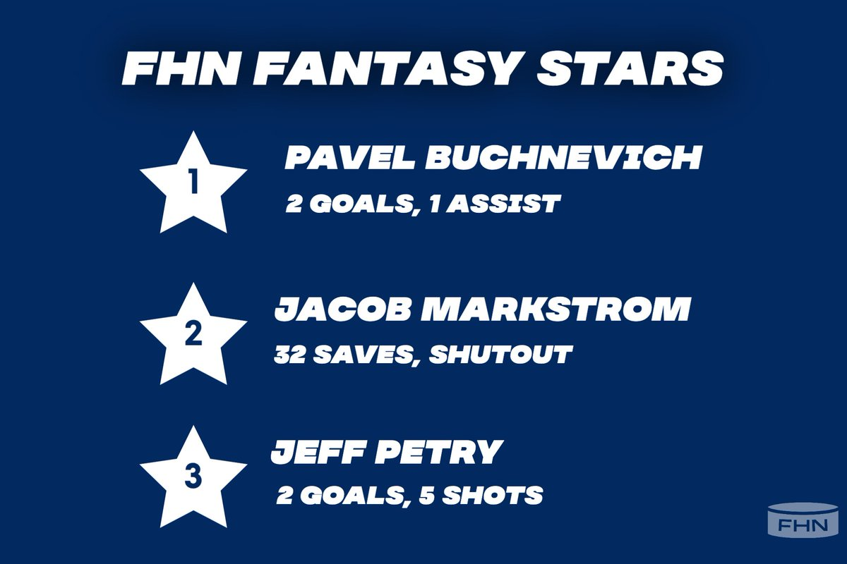 FHN's #fantasystars from last night! Jacob Markstrom says ⛔️ to his old team!  #fantasyhockey #NHL #nhlpicks #HockeyTwitter #HockeyIsBack