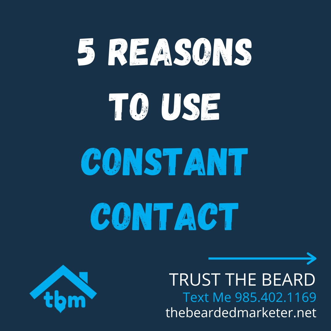 I have put together 5 reasons you should use Constant Contact.  I am a partner and love their tools.   Here is a link to sign up for Free:   -  #emailmarketing #realestatemarketing #emailautomation #emailcampaigns #landingpages