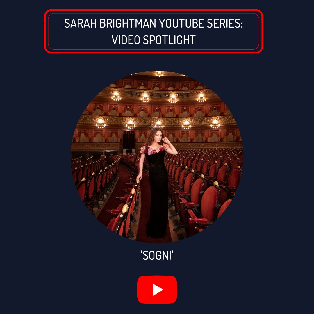 """NEW YouTube Series:  Video Spotlight of the Week - """"Sogni""""  Follow along each week as we revisit incredible videos on Sarah's YouTube channel: https://t.co/jvrcwy4AFi  The 'HYMN: Sarah Brightman in Concert' CD/DVD  CD/BLU-RAY are available here:  https://t.co/Pt0XDMXYCB https://t.co/LnKFN3A76e"""