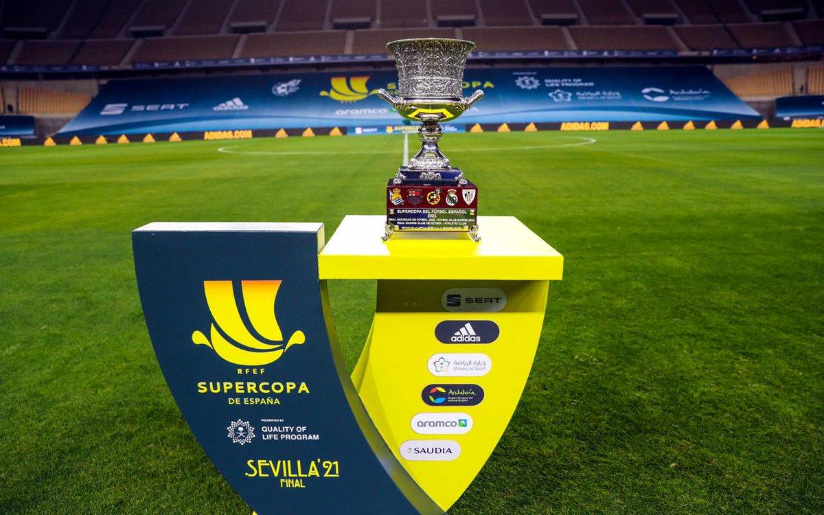 ضمن مبادرات #برنامج_جودة_الحياة وبتنظيم من #وزارة_الرياضة ..  يقام نهائي كأس #السوبر_الإسباني بين فريقي #برشلونة و #اتليتيك_بلباو مساء اليوم الأحد في تمام 11:00 مساءً.  • #السعودية #رؤية_السعودية_2030 #إسبانيا