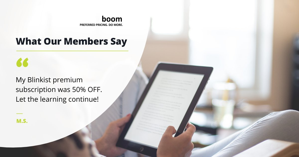Another #BOOMMember saved during Black Friday weekend!    #BlackFriday #reading #learning