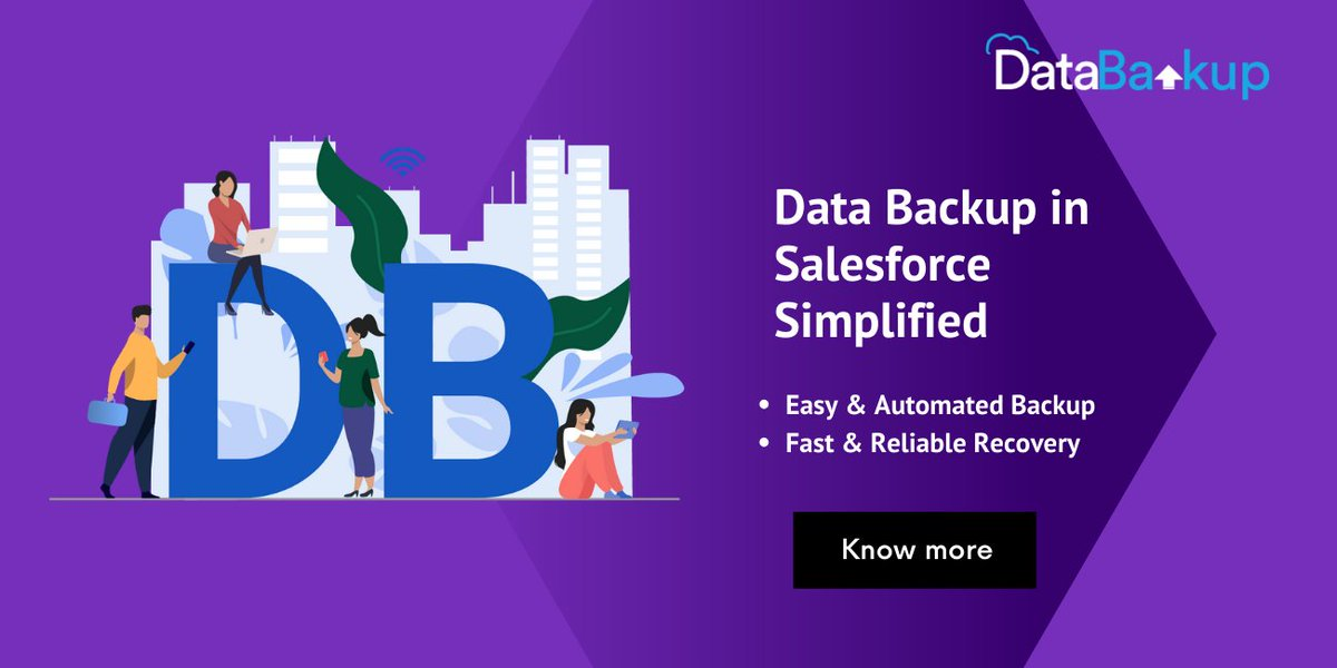 Backup your critical business data in Salesforce in the easiest of the ways using DataBakup & never lose access to any of your data. Know more:  #DataBackup #DataManagement #Salesforce #AppExchange