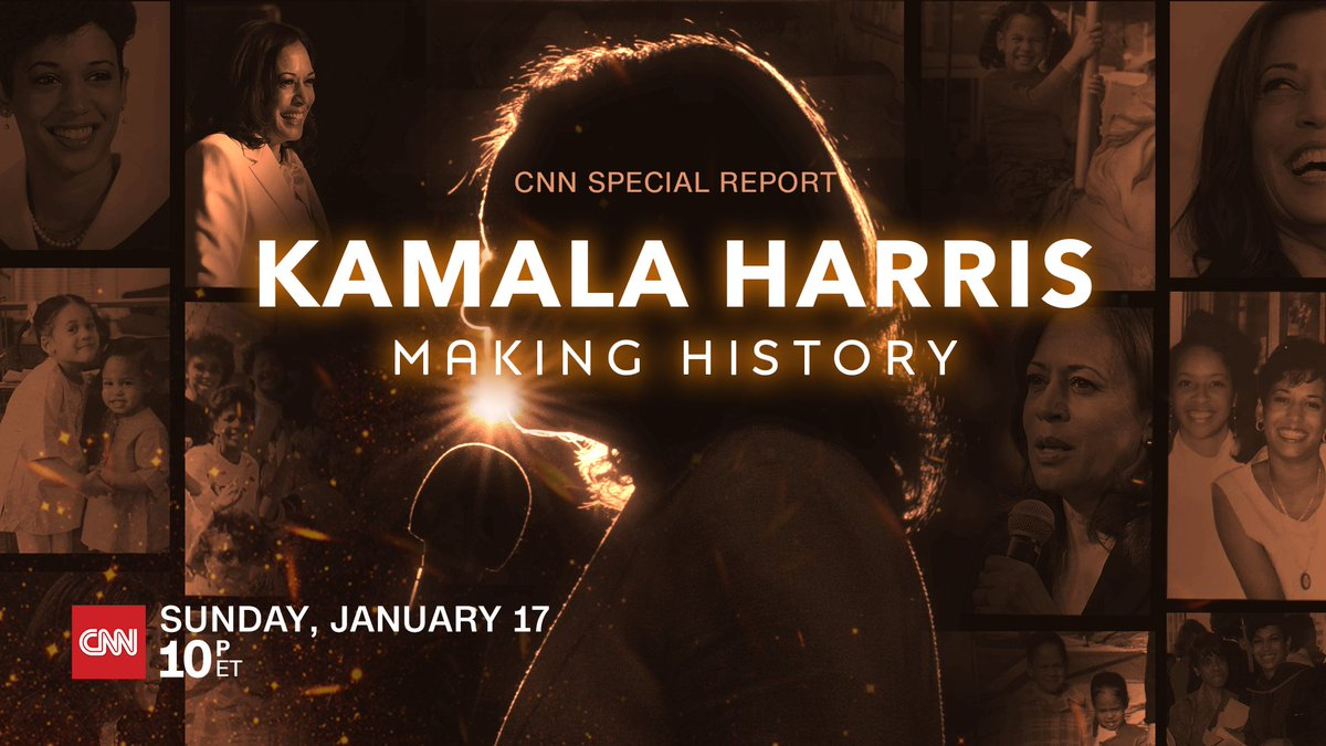 TONIGHT - @CNN Special Report, Kamala Harris: Making History, includes rare interviews with Harris' husband, colleagues, friends & family, as well as with the Vice President-elect herself. Join @abbydphillip at 10pm ET.