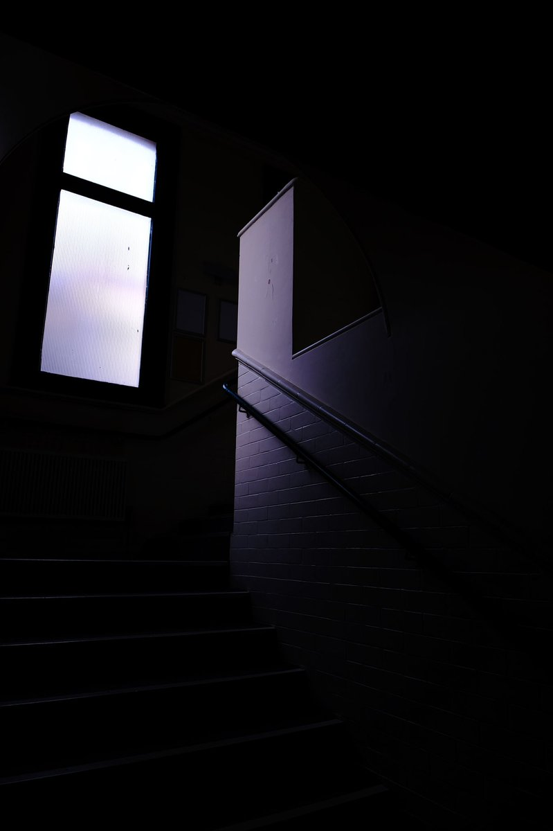 Another image of an empty theatre, come back soon! #theatre #empty #lockdown #notviable #wemakeevents #peforming #foyer #window #stairs #dark #light