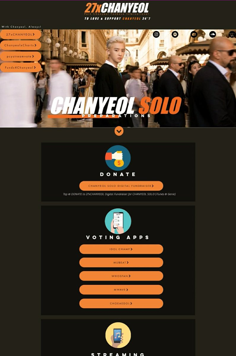 🍒 Introducing our mini-siteー with links to all the voting apps and major streaming platforms which are a must for #CHANYEOL SOLO Release! 👉   A single platform for all the relevant info- to help you prepare your best for YEOLO! #찬열 #박찬열 @weareoneEXO