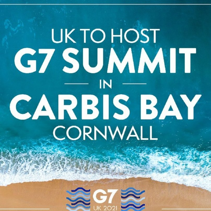 Delighted that beautiful Carbis Bay near St Ives, #Cornwall will host the #G7 this summer   I love #Cornwall and I'm sure the G7 leaders will too  A great opportunity to remind the world how special a British seaside holiday is 🏖   @ILoveCornwallUK #tourism