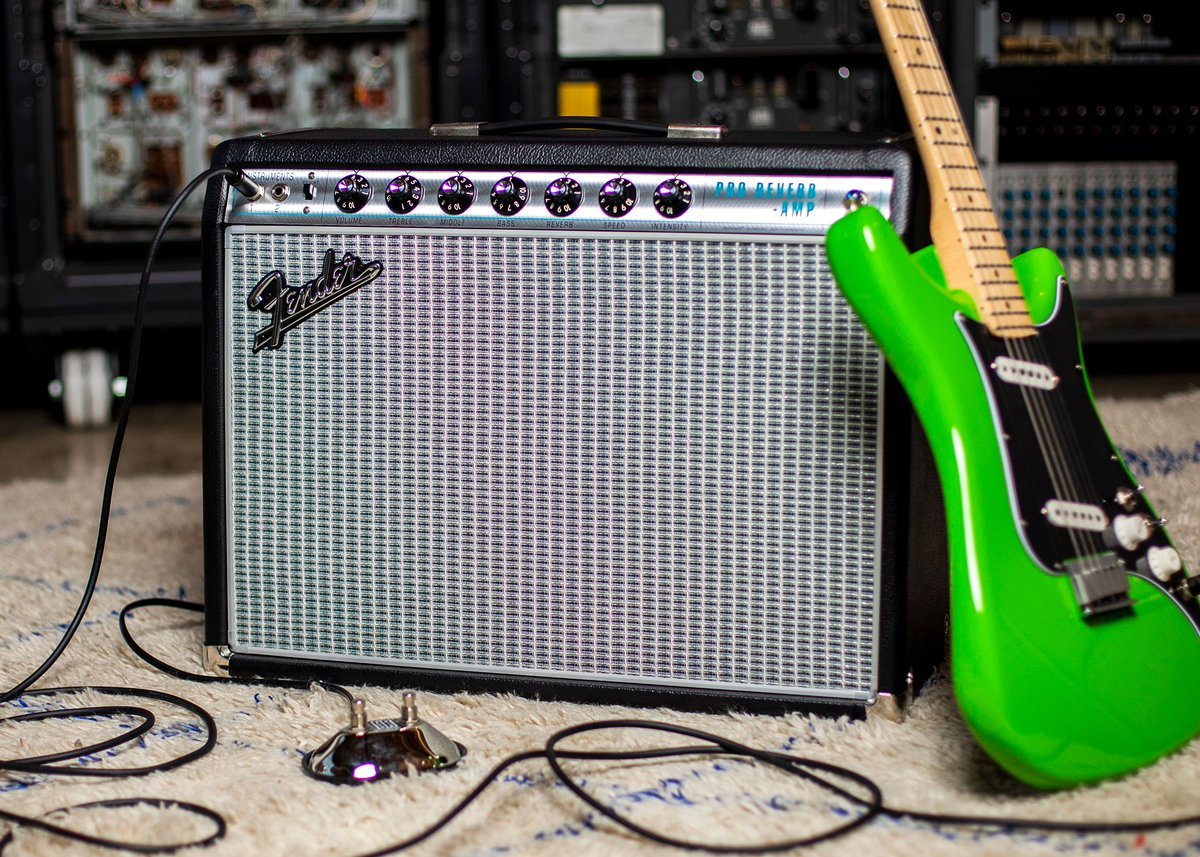 Pro tip. @Fender's new '68 Custom Pro Reverb refines their popular 40w model w/a middle tone control, lightweight cabinet & @celestionUK Neo Creamback. Its power, portability + classic Fender tone make it a strong contender as your next pedal-platform amp.