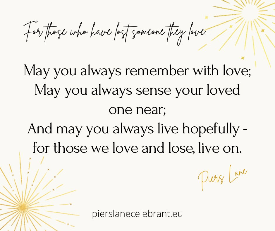 I love creating ceremonies for families who need something non-religious but still full of meaning. Here are some of my words for those who have said goodbye to someone they love. #grief #bereavement #COVID19 #funeralcelebrant