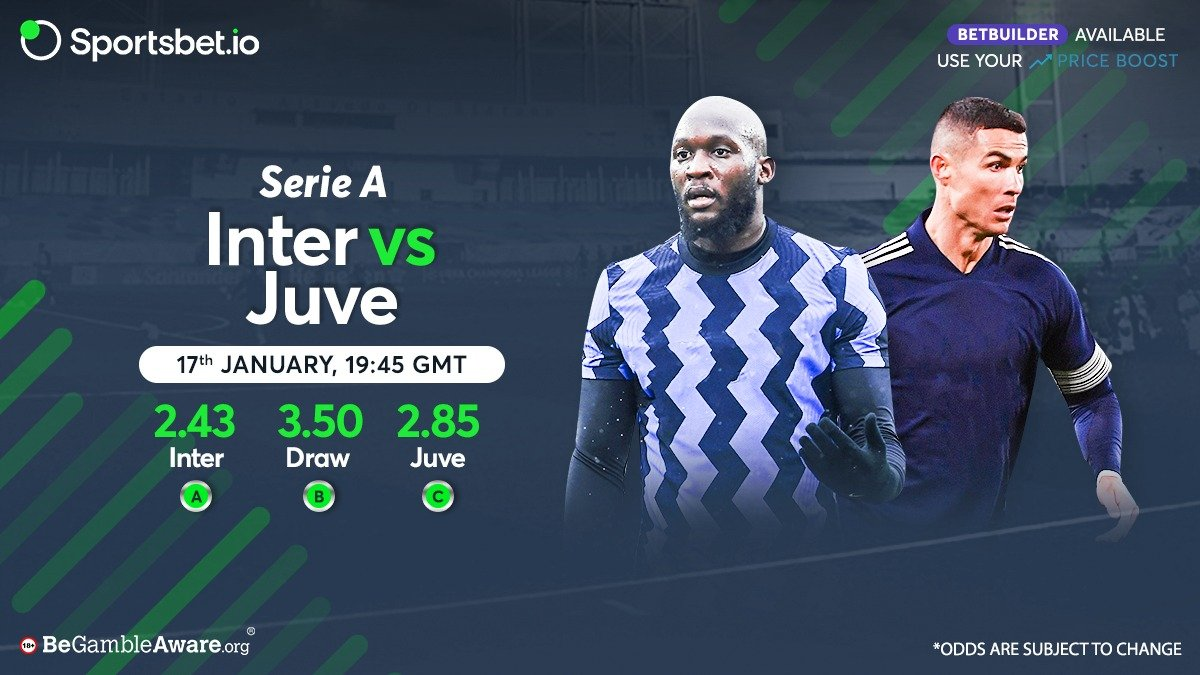 🗒️Form guide:   #InterMilan - WWLDW #Juve - LWWWW  #SerieA's best attack, Inter, take on the best defence of an in-form Juve, who will come out on top? 🤔  Inter - 2.43 😊 Draw - 3.50 😆 Juve - 2.85 😎  Head to 👉 and win big! 🤑  #InterJuventus