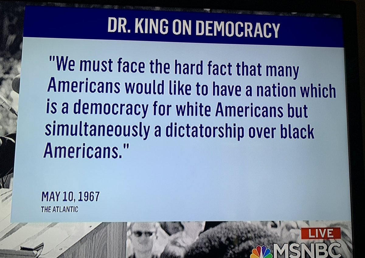 Replying to @FunTeedy: Over 53 years ago...  Why white people never use this Dr. MLK, Jr quote?