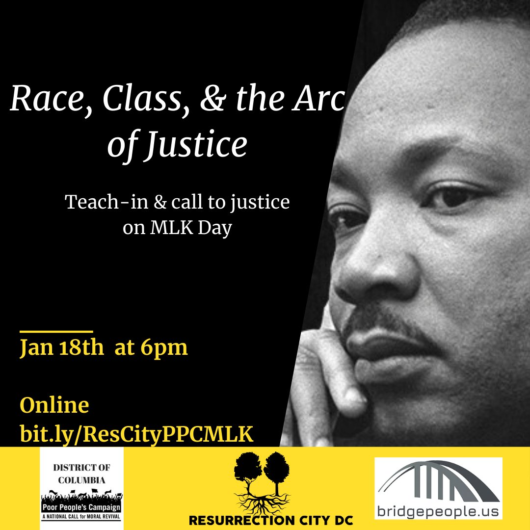 Martin Luther King Day Teach-in on Race, Class & the Arc of Justice Monday January 18 at 6:00 PM Join us!  RSVP