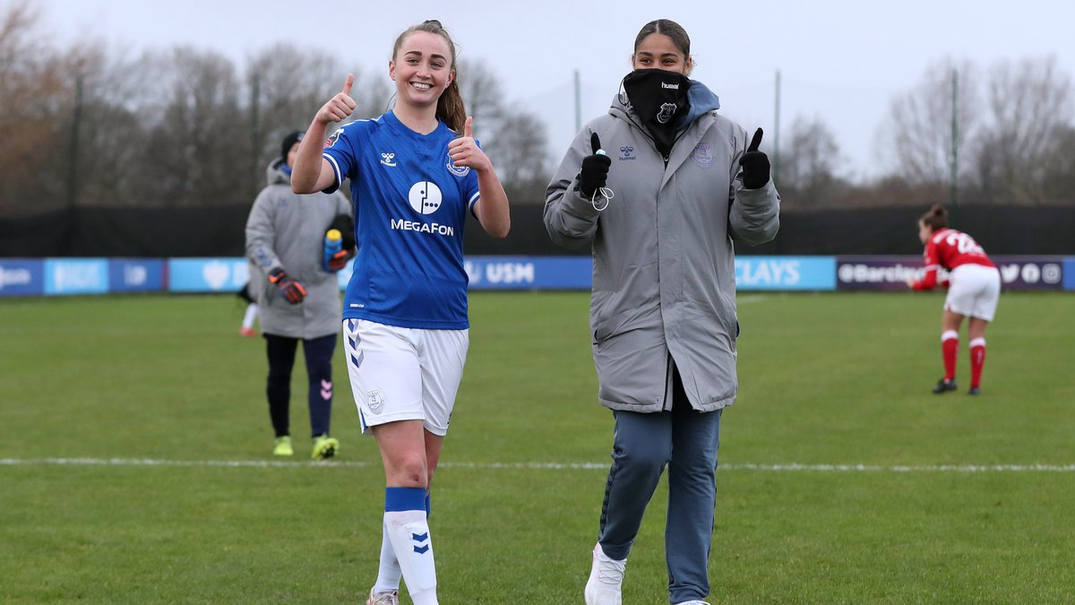 Replying to @EvertonWomen: Goal 🎯 Clean sheet ⛔️  A big performance from @MeganFinnigan1!  👍