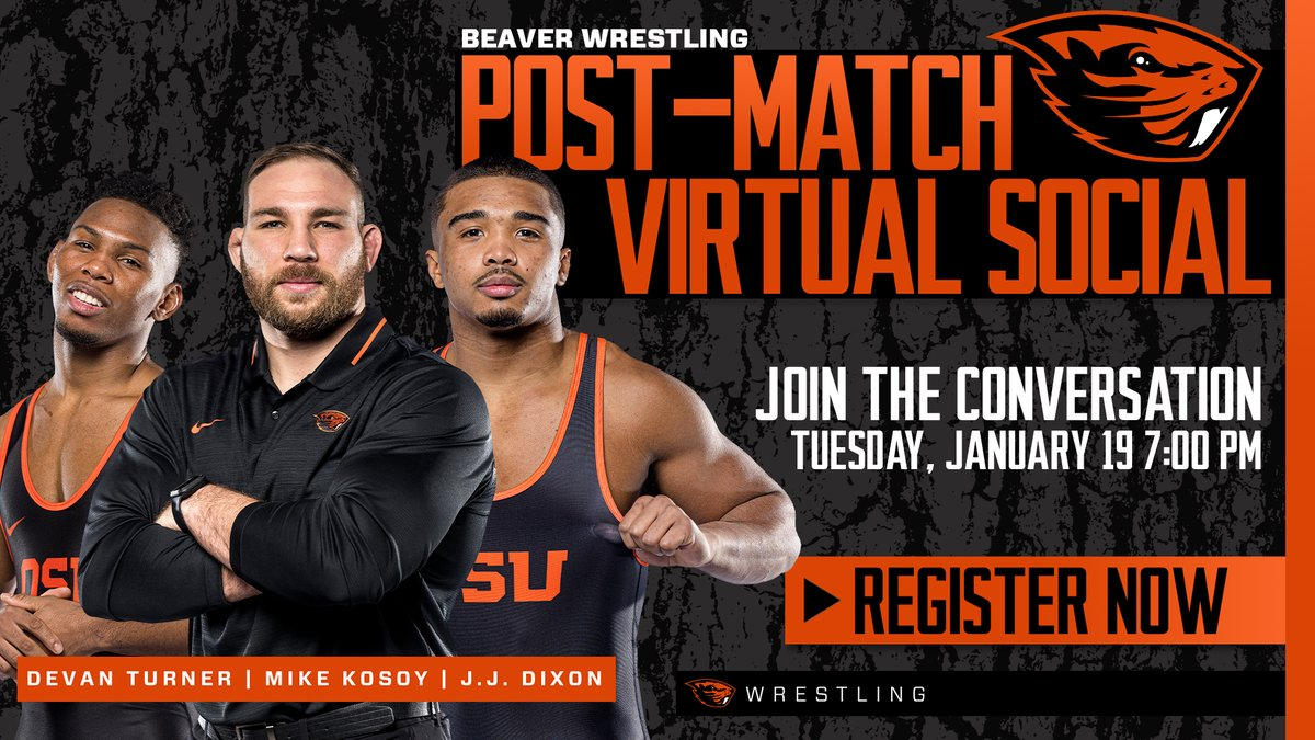 Don't miss another chance to hear from Beaver Wrestling on Tuesday at 7 pm (PT) #GoBeavs  Register here: https://t.co/O5q8hgNtOD https://t.co/ZChyFMDzh2