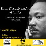 Image for the Tweet beginning: Martin Luther King Day Teach-in