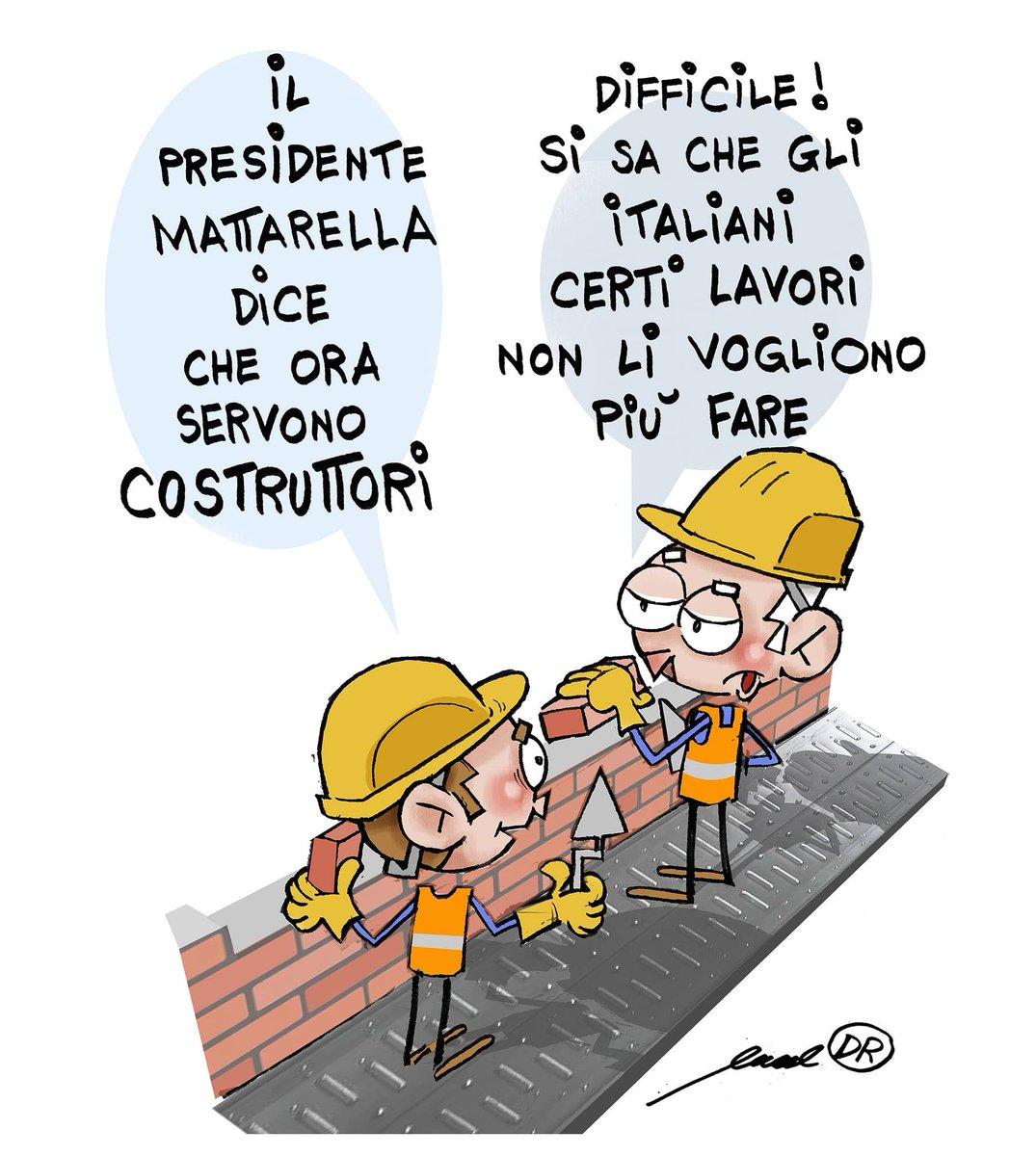Del resto, le indicazioni del Presidente #Mattarella appaiono chiare  Così Manuel De Rossi   #crisidigoverno  #costruttori  #vignettistiperlacostituzione 🇮🇹