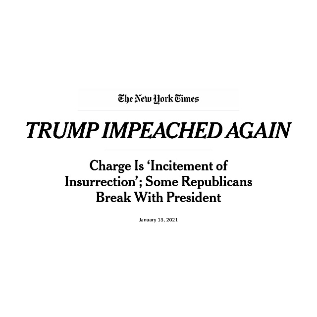 Show us what justice looks like,2021! #ImpeachmentDay