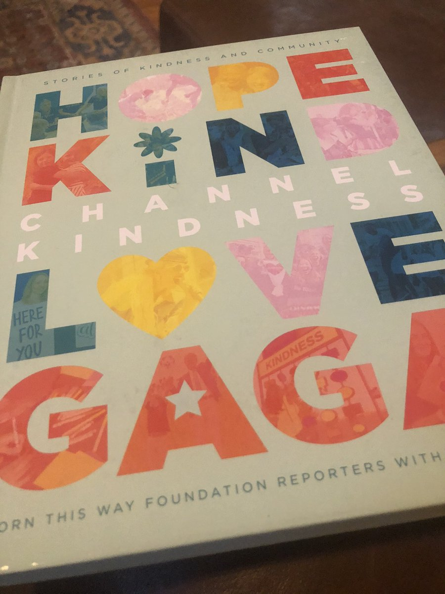 When open an Amazon box you forgot about and find the new book you ordered 💕 #channelkindnes #hopekindlovegaga #ladygaga