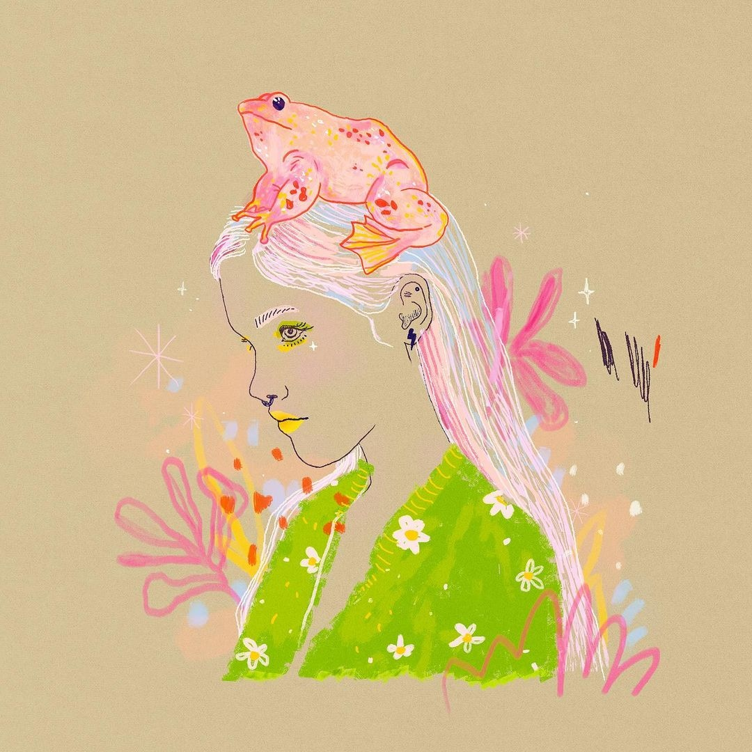A gorgeous and delicate piece from @tiffany_atkin on Instagram who uses the Cintiq 13.   #madewithwacom #digitalart #digital #illustration #portrait #frog #surreal #drawing #character #design #girl #surrealart #fashion #cintiq https://t.co/rnY5QJhD0U