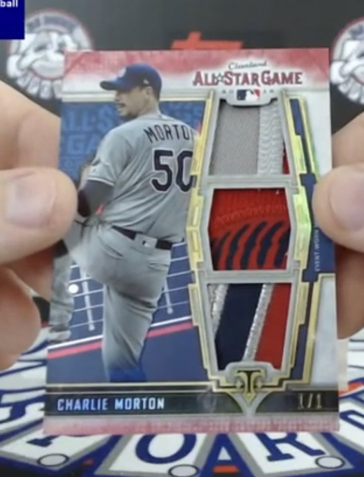 Charlie Morton 1/1 All-Star Game Relic card out of Triple Threads at @RJDukeSports   #Rays https://t.co/R0veG25eXY