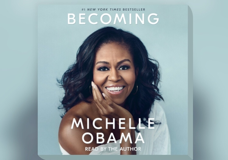 """... when they go low, we do high."" Thank you for being the epitome of grace, class, and honesty. Happy birthday Michelle!  #IamBecoming #becoming #MichelleObama #hbd #icon #flotus #flotusmichelleobama #reading #readingcommunity #bookstagram"