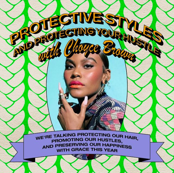 .@choycebrown is joining us for our LAST Wash Day session dropping some much needed inspiration for girls looking to protect their hair, hustle and happiness this year 💕 tune in at 5:15PM: