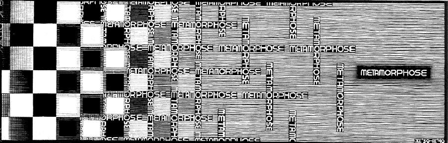 Metamorphosis II excerpt 7, 1939 #escher #mcescher