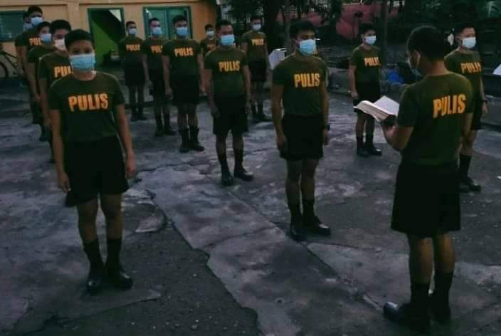 """On January 17, 2021 at about 04:30 AM, conducted morning devotion to PSFTP CL 2020-01 Buklod Diwa detailed at Naujan MPS as part of their daily spiritual activity. Pat Roland M Mistiola shared the word of God from book of Collosians 3:17  """" Romans 8:1  #TeamPNP #ToServeAndProtect"""