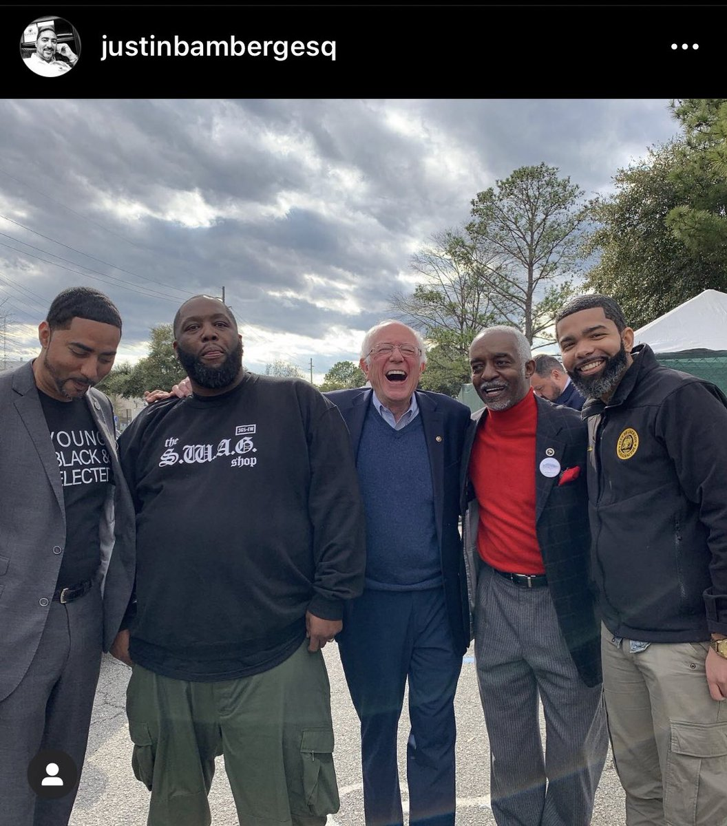When folks was talking mad trash but now you are the US Senate Finance Chair and control the 💰decisions in America. 🤣🤣🤣🇺🇸 Shoutout to our brother @BernieSanders for always fighting the good fight for the people. 💪🏽 https://t.co/ypVN6Anm5c
