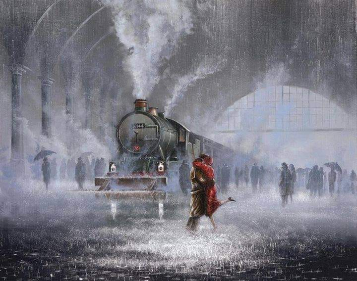 Art by Jeff Rowland  Last train