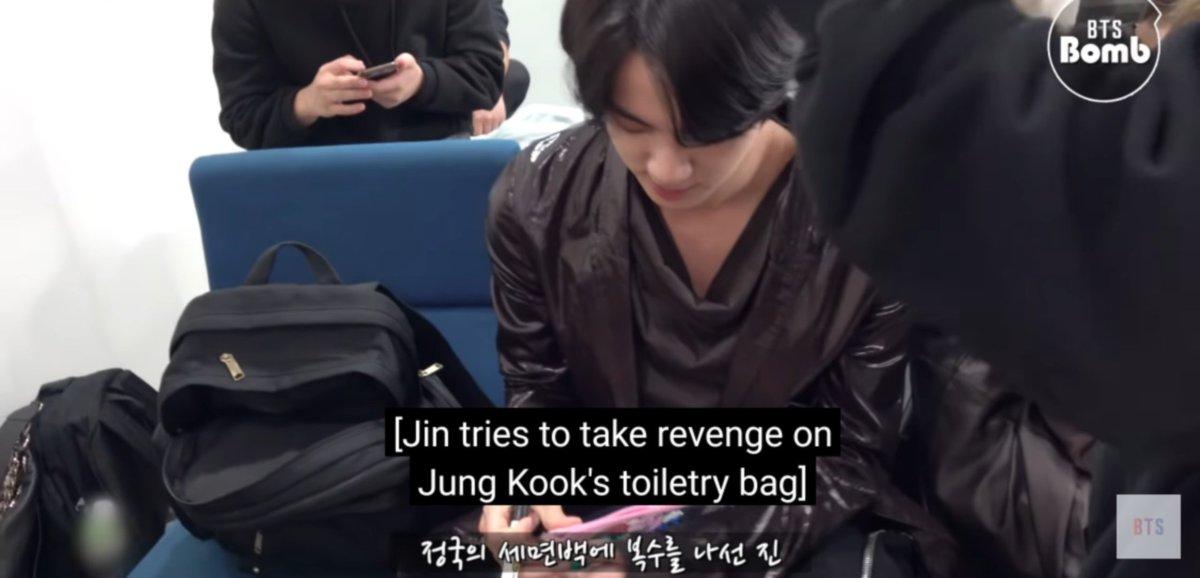 [BANGTAN BOMB] What's Written on Jin and Jungkook's stuff? - BTS 💜#BTSJIN #btsjk #BTS_twt  #방탄밤 #오늘도_평화로운_잔과_쮀이케이 #정국이는_알제이가_좋아