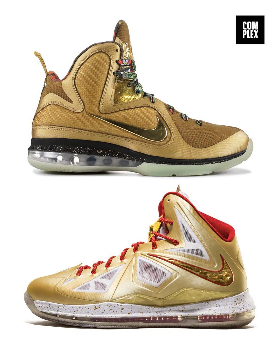 """We're getting a gold @KingJames PE release in the future, but do you want """"King's Throne"""" 9s or """"Ring Ceremony"""" 10s? Drop a 👑 or 💍 in the comments for your pick. https://t.co/tXdBZuB4as"""