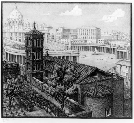 San Michele Dei Frisone, Rome, 1932  #escher #mcescher