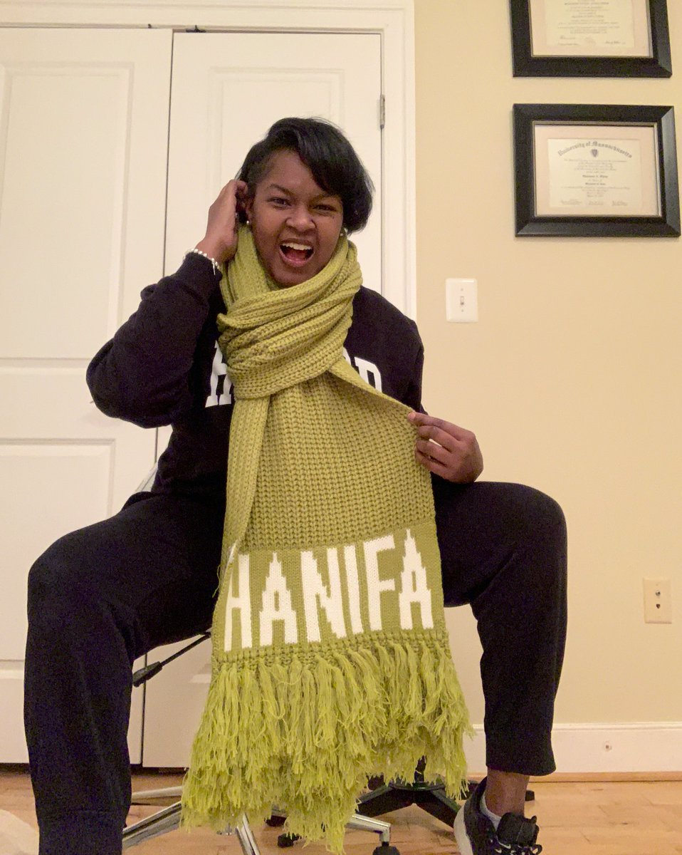 About to stylishly step out in the cold with my @officialHanifa Chloe knit scarf.  I'm excitedly awaiting my shipment notification and delivery of my Olivia dress and this scarf will really pop!  #FUBU #SupportBlackBusiness