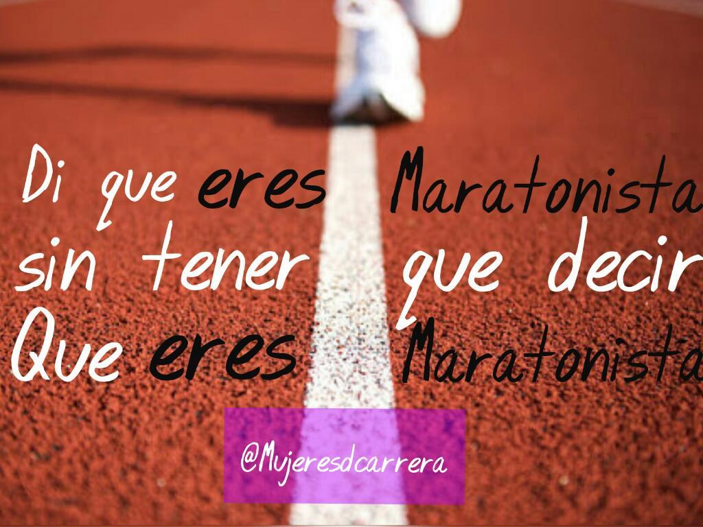 Di que #eres #maratonista. Sin tener que decir que eres maratonista. #creatividad #felicidad #diversion #vamosajugar