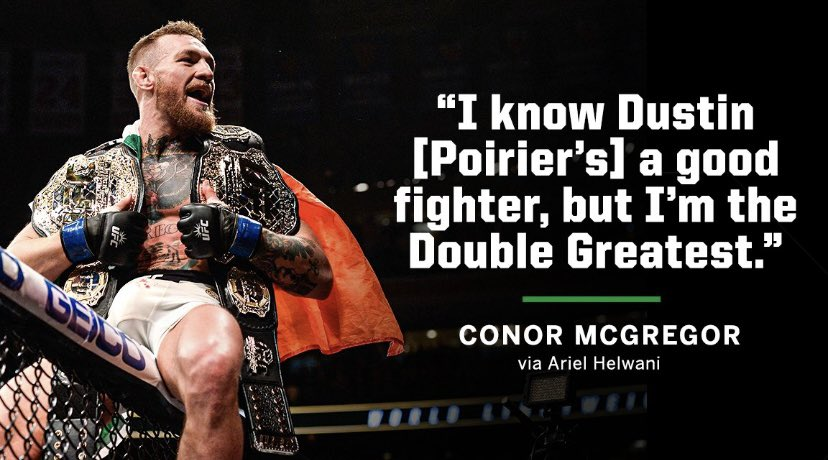 Conor coming with a GOAT mindset for UFC 257 #UFC #UFC257 #UFCFightIsland https://t.co/2avXmH1tFE