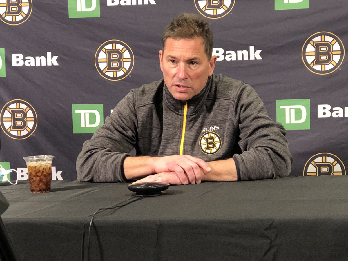 """Per #NHLBruins coach Bruce Cassidy, Ondrej Kase is """"doubtful"""" for tomorrow's game against the Islanders with an upper-body injury.  Craig Smith stayed off the ice as """"more of a maintenance day"""" but """"he should play"""" on Long Island."""