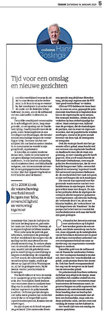 Waar #polarisatie toe kan leiden hebben we gezien bij #CapitolHill #CapitolRiot. Hans Goslinga vergelijkt in z'n #COLUMN in#Trouw ↓ ↓ ↓ naar iets vergelijkbaars, zij het in geringere mate, bij de deuren van het #provinciehuis in #Groningen, door protesterende #boeren van #FDF