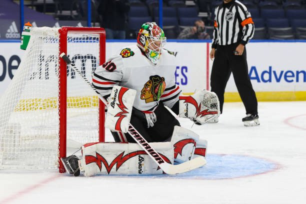 Collin Delia to start in net for the #Blackhawks tonight. #HockeyTwitter