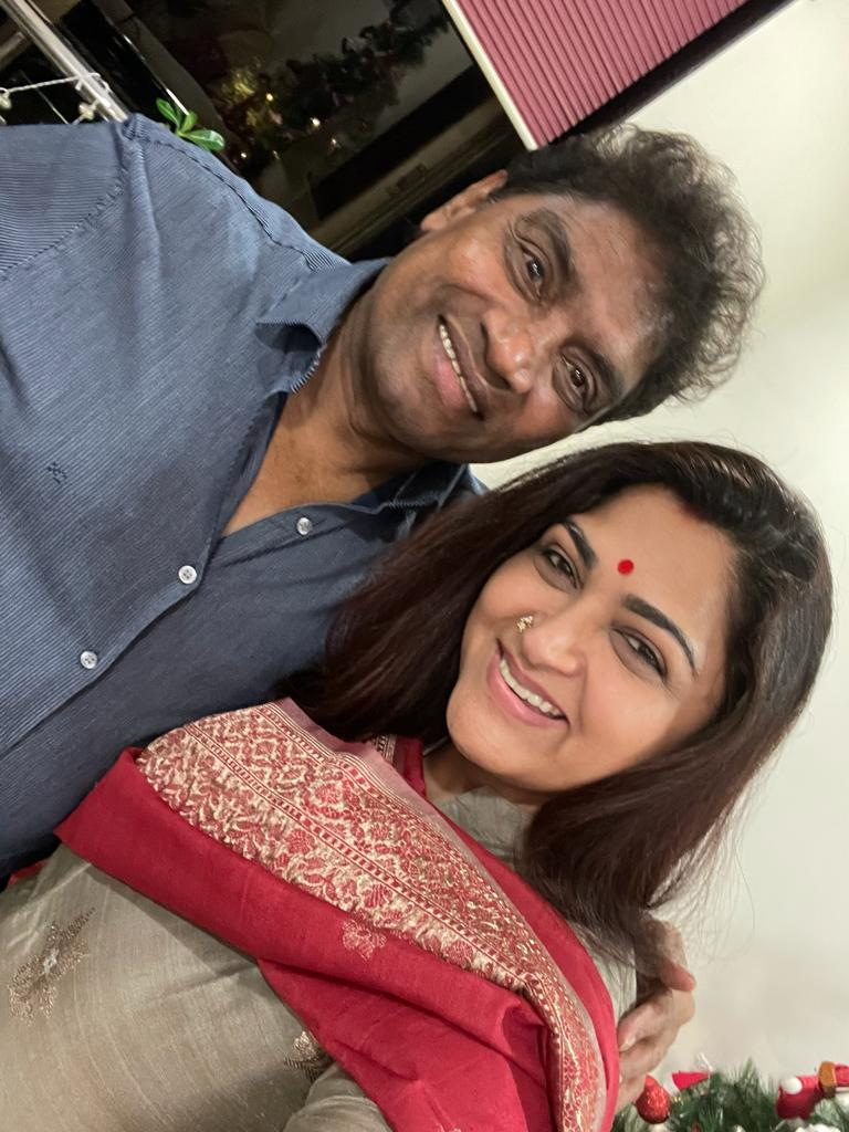 Mumbai has been all about renewing old relationships this time. Met this great actor #JohnnyLever ji after 38 long years and yet we connected immediately. An evening full of fun,laughter n joy with friends. ❤❤❤
