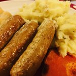 Image for the Tweet beginning: Sausage and cheesy mash! 😍