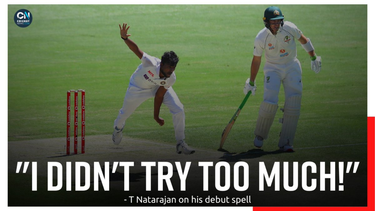 As honest as it gets. As genius as it gets.  T Natarajan's words on his first ever Test cricket spell!   #AUSvsIND #TeamIndia #Natarajan #cricketnews