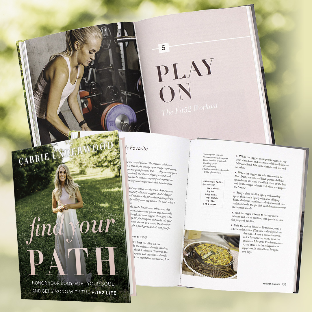 Need a little extra inspiration for the new year? #FindYourPath includes healthy swaps and recipes, favorite workouts, and stories of how Carrie found her path to healthy living.  -TeamCU