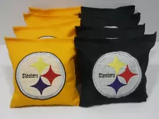 Winner of the Steelers Cornhole bags will be announced after the #Buccaneers and #Saints game. #SteelerNation #HereWeGo @TheSteelersWire @SteelersKillerB @PollSteelers @SteeIerNation