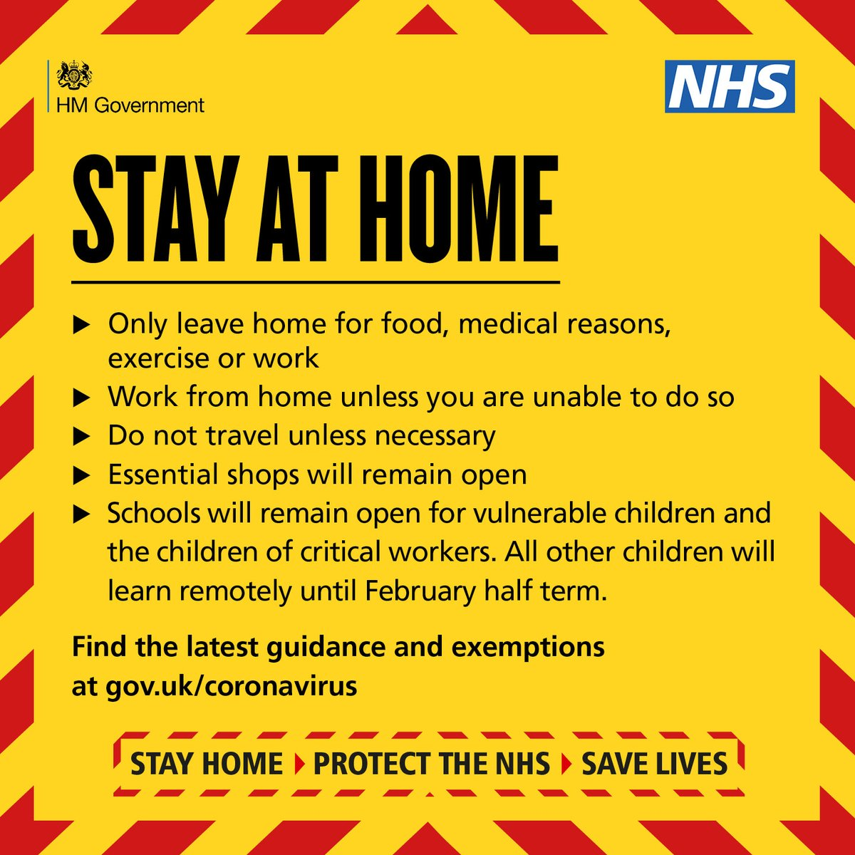 We all need to play our part by staying at home and only leaving for essential reasons #COVID19 #NationalLockdown #StayatHome