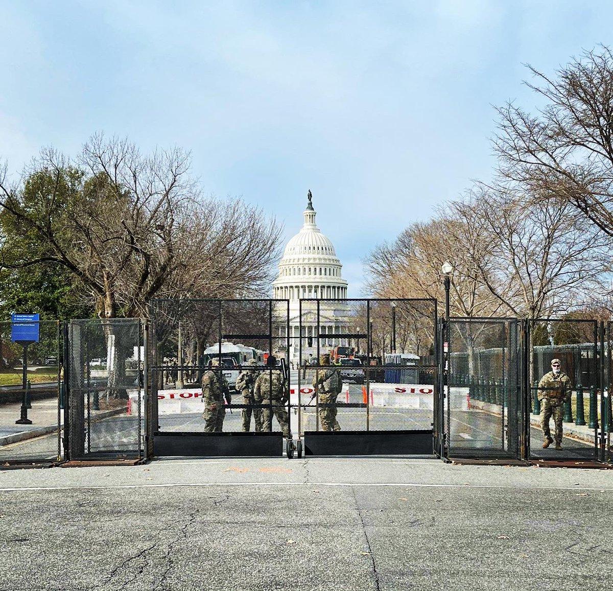 Just a walk around the neighborhood. 🇺🇸#inauguration #inauguration2021 #InaugurationSecurity #capitol #CapitolHill