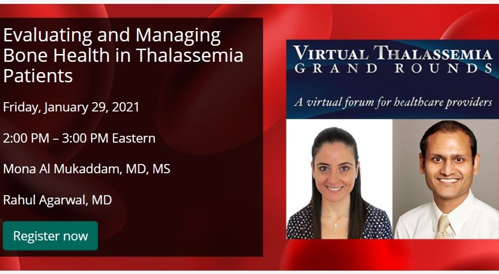 Low bone mineral density and fractures are common among patients with #thalassemia, a rare blood disorder. Register for a free CDC virtual Grand Rounds on 1/29 to learn more about managing bone health in thalassemia. bit.ly/3ohPiEV